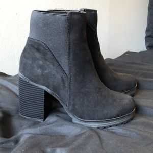 Shoes - Black Booties Size 7